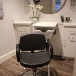 hair styling chair in beauty salon